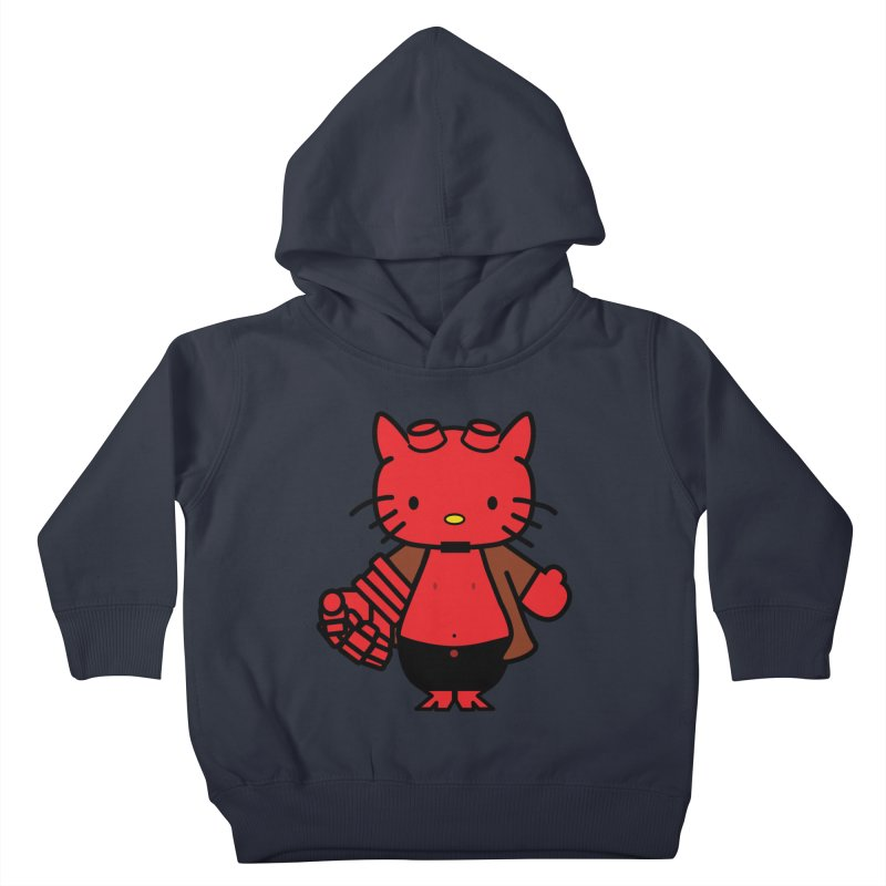 HELL KITTY Kids Toddler Pullover Hoody by Von Grey's Artist Shop