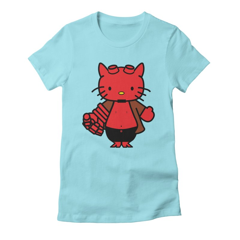 HELL KITTY Women's Fitted T-Shirt by Von Grey's Artist Shop