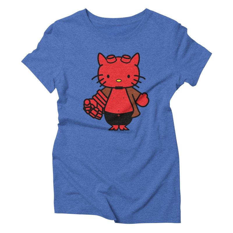 HELL KITTY Women's Triblend T-Shirt by Von Grey's Artist Shop