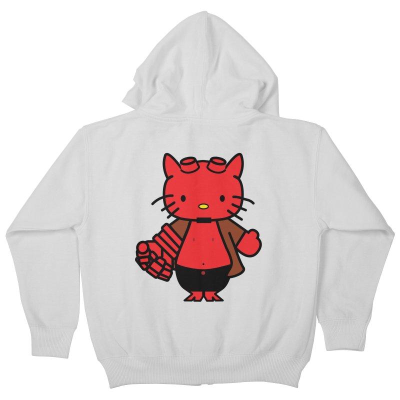 HELL KITTY Kids Zip-Up Hoody by Von Grey's Artist Shop