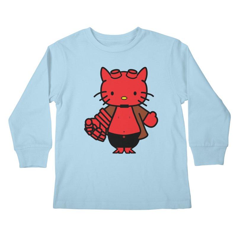 HELL KITTY Kids Longsleeve T-Shirt by Von Grey's Artist Shop
