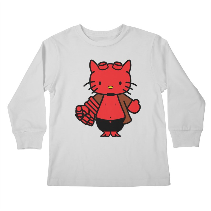 HELL KITTY Kids Longsleeve T-Shirt by Von Grey's Artist Shop