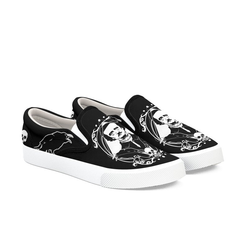 Edgar Allan Poe - the king of macabre Men's Slip-On Shoes by von Kowen's Shop