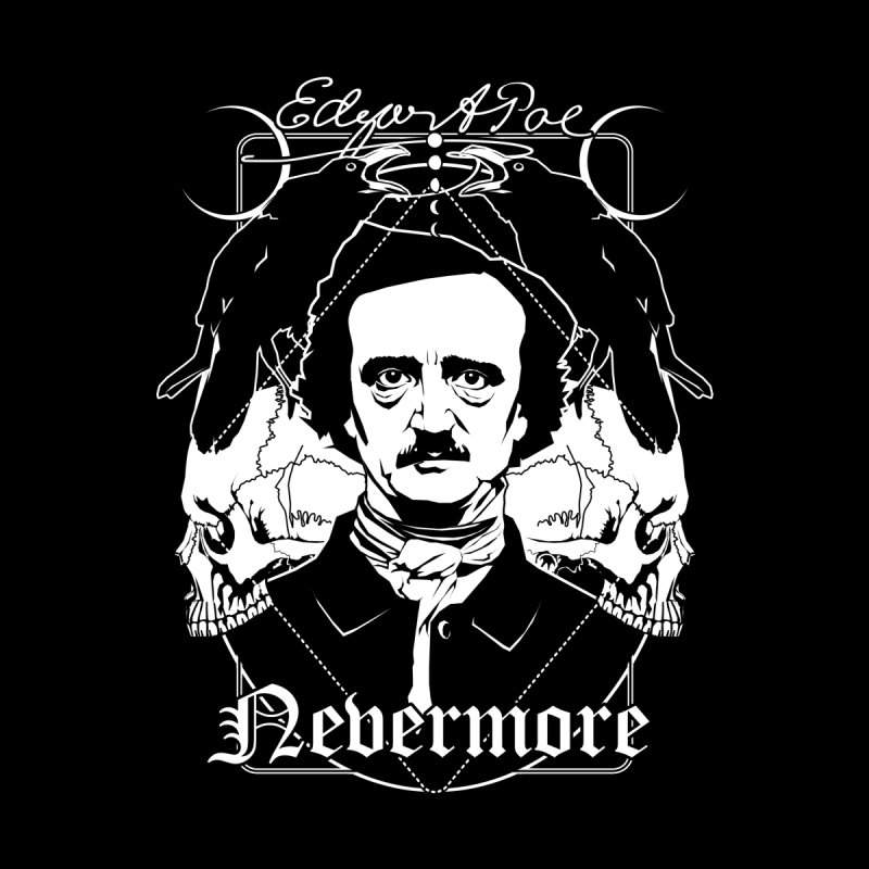 Edgar Allan Poe - Nevermore Accessories Skateboard by von Kowen's Shop