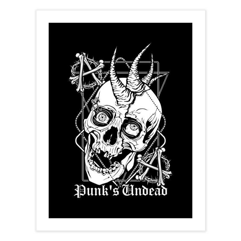 Punk's Undead Home Fine Art Print by von Kowen's Shop