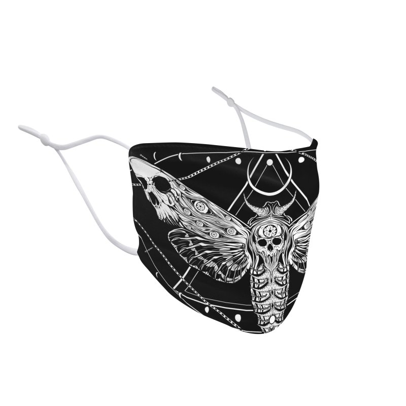 Surreal Death Moth Accessories Face Mask by von Kowen's Shop