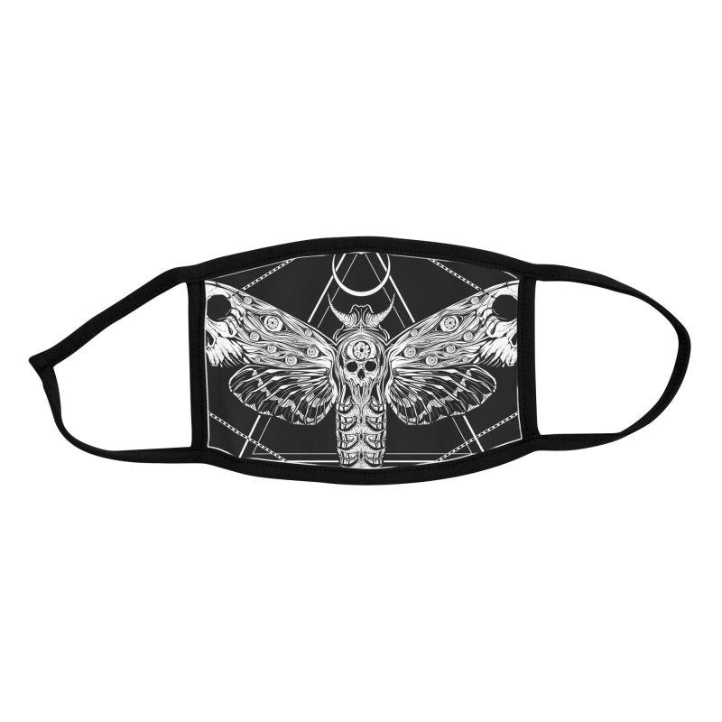Surreal Death Moth Accessories Face Mask by von Kowen's Shop