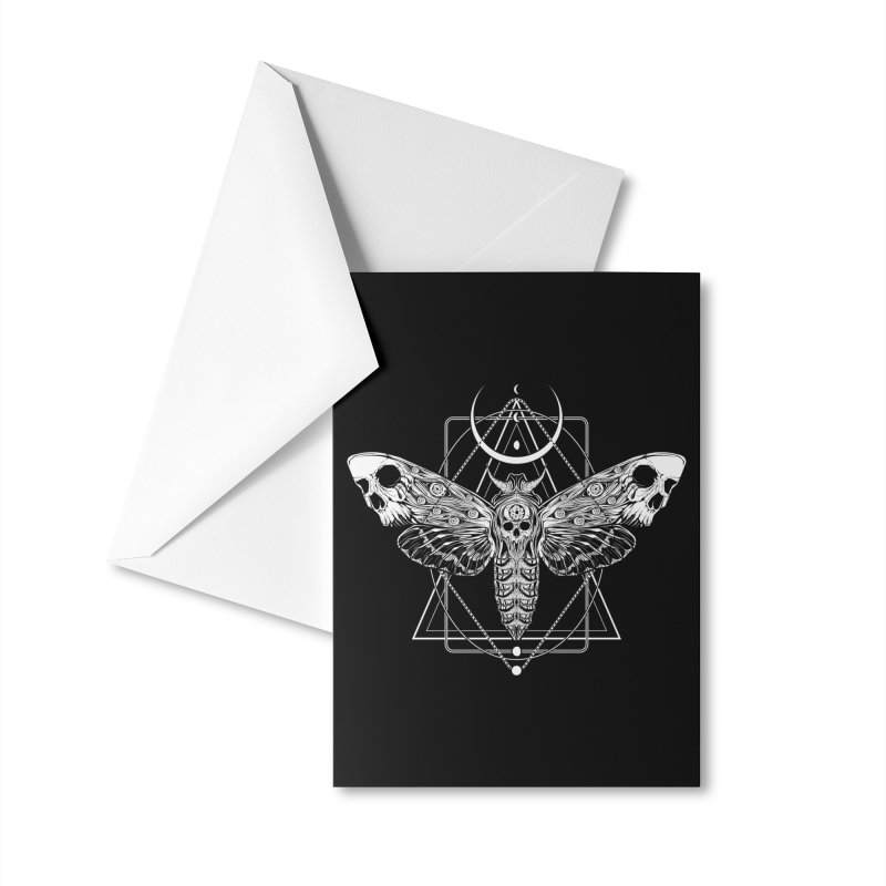 Surreal Death Moth Accessories Greeting Card by von Kowen's Shop
