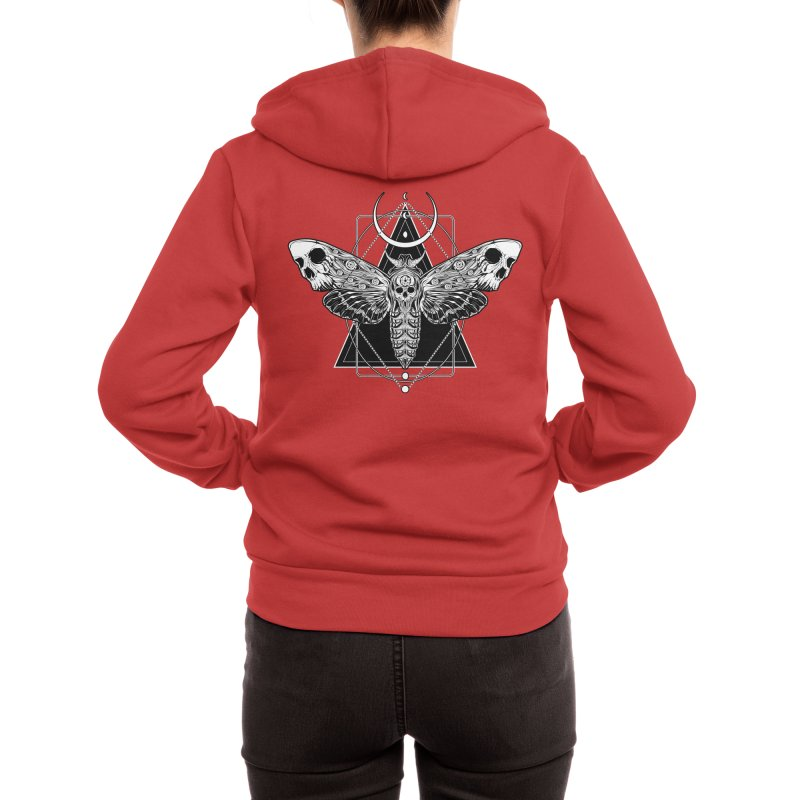 Surreal Death Moth Women's Zip-Up Hoody by von Kowen's Shop