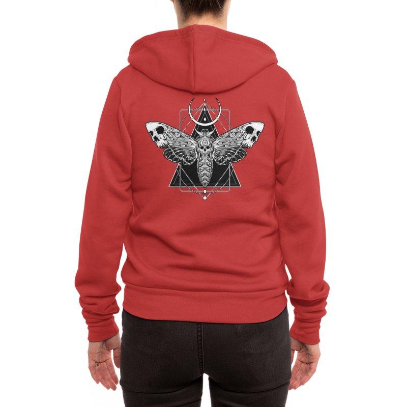 Surreal Death Moth Women's Zip-Up Hoody by von Kowen's Shop