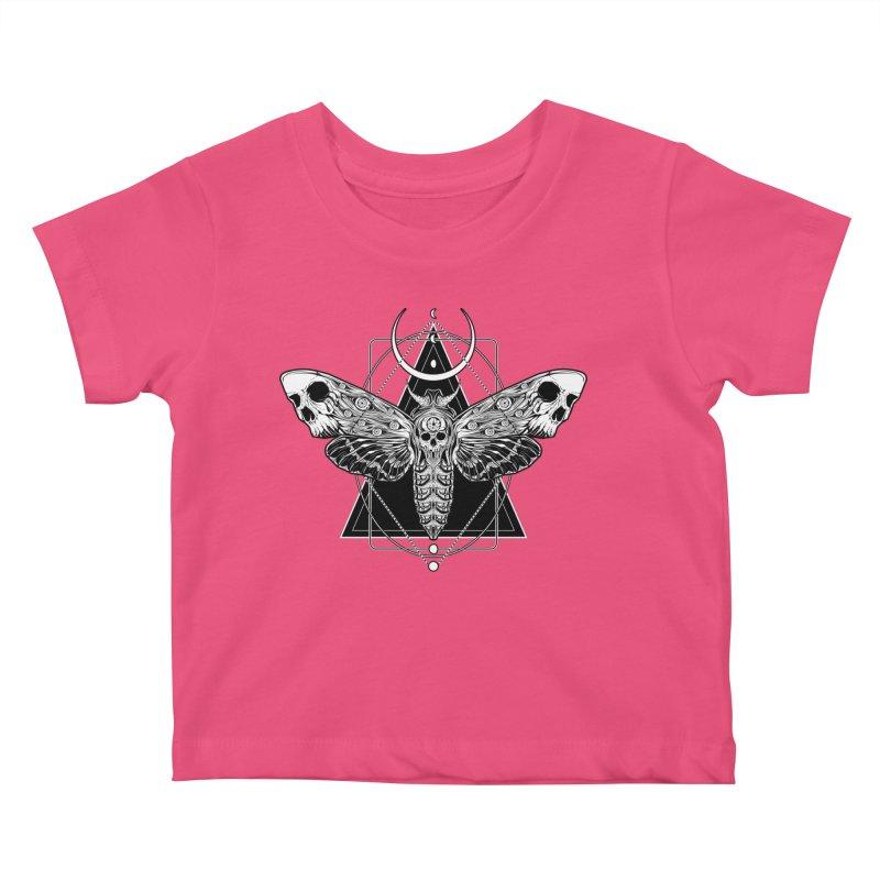 Surreal Death Moth Kids Baby T-Shirt by von Kowen's Shop