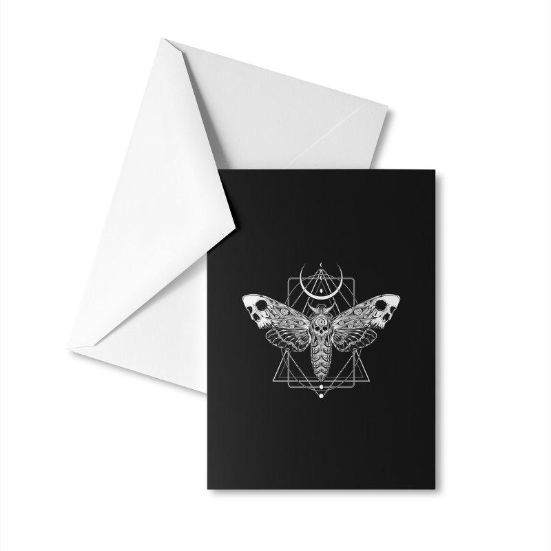 Surreal Death Moth Accessories Greeting Card by von Kowen's Shop