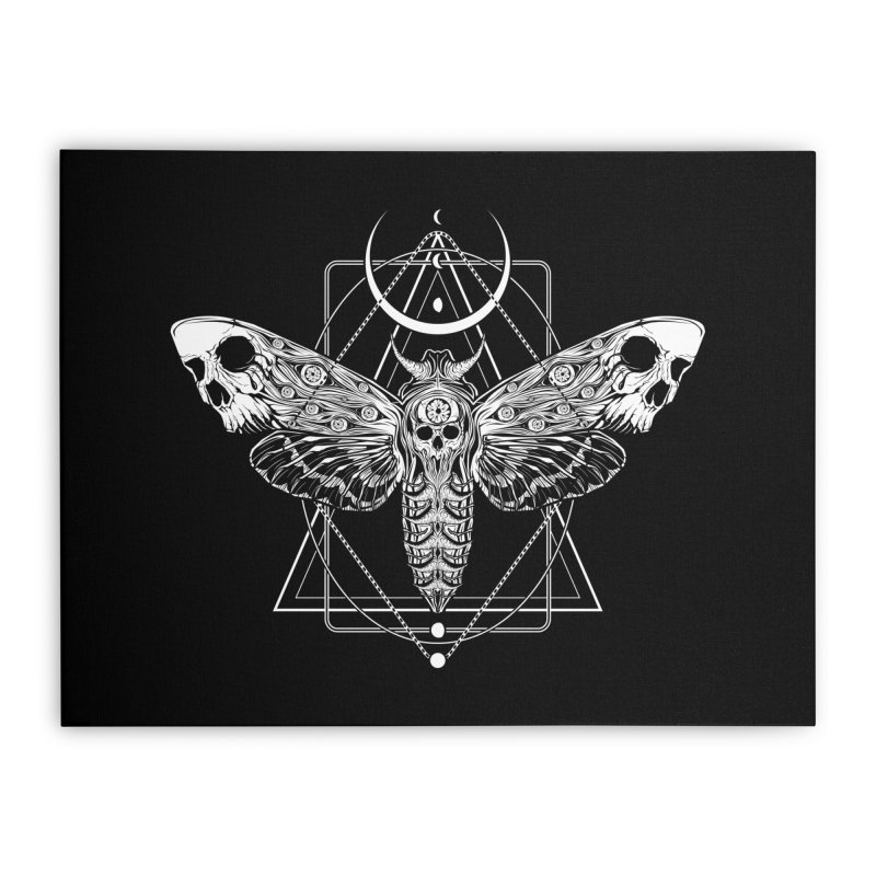 Surreal Death Moth Home Stretched Canvas by von Kowen's Shop