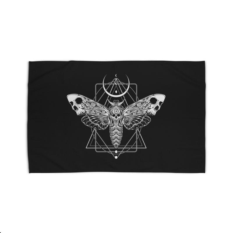 Surreal Death Moth Home Rug by von Kowen's Shop