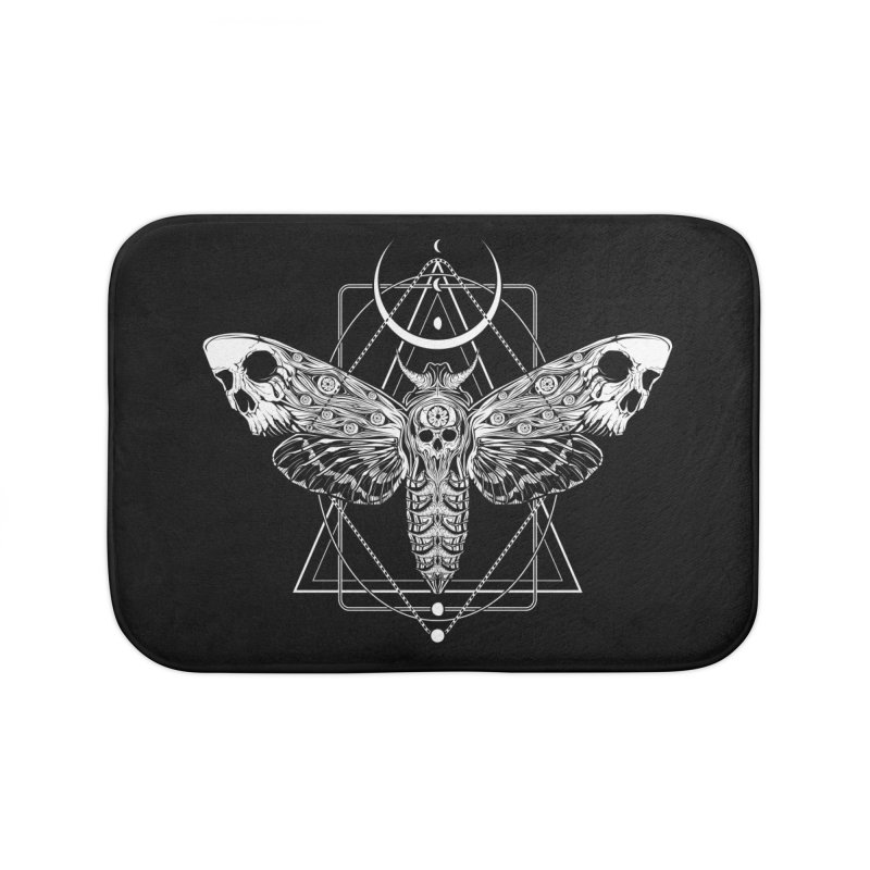 Surreal Death Moth Home Bath Mat by von Kowen's Shop