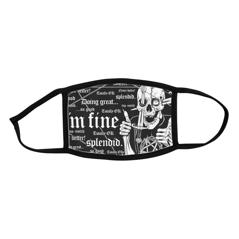 I'm fine Accessories Face Mask by von Kowen's Shop