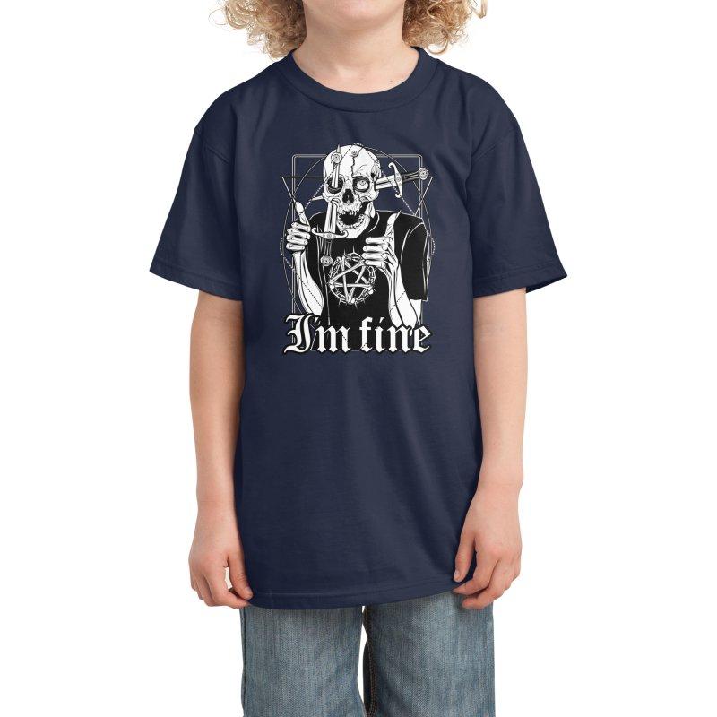 I'm fine Kids T-Shirt by von Kowen's Shop