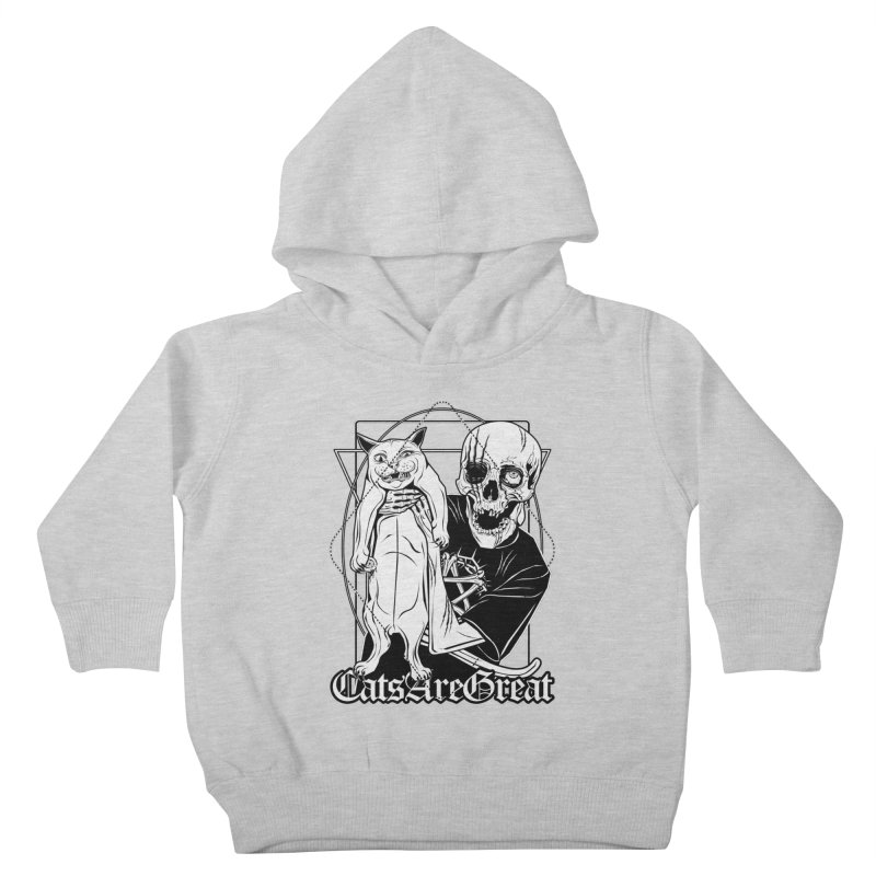 Cats are great Kids Toddler Pullover Hoody by von Kowen's Shop