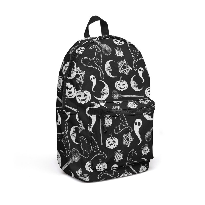 Creepy spooky Halloween pattern Accessories Backpack Bag by von Kowen's Shop