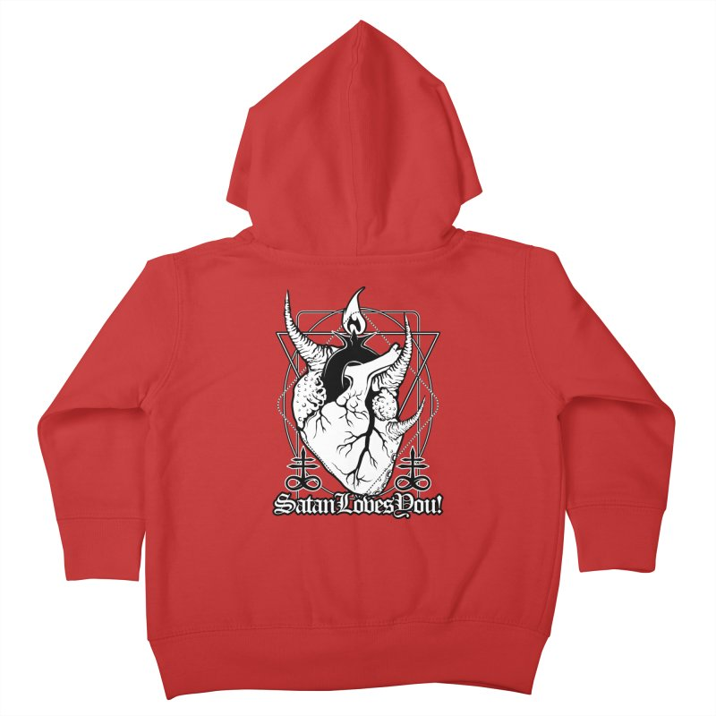 Baphoheart: Satan Loves You Kids Toddler Zip-Up Hoody by von Kowen's Shop