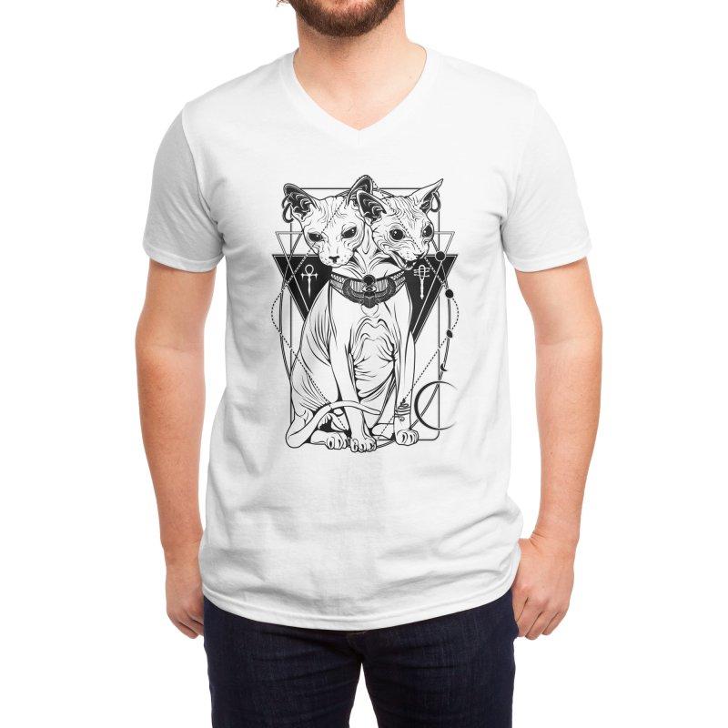 Bastet - the Cat Goddess Men's V-Neck by von Kowen's Shop