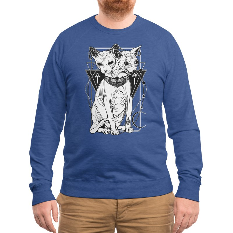 Bastet - the Cat Goddess Men's Sweatshirt by von Kowen's Shop