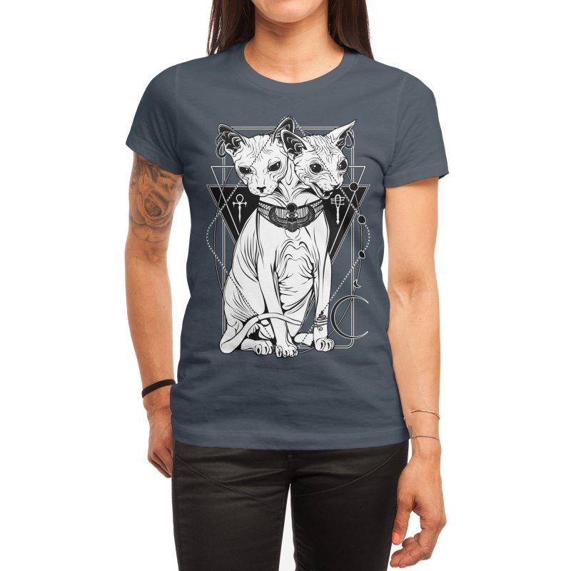 Bastet - the Cat Goddess Women's T-Shirt by von Kowen's Shop