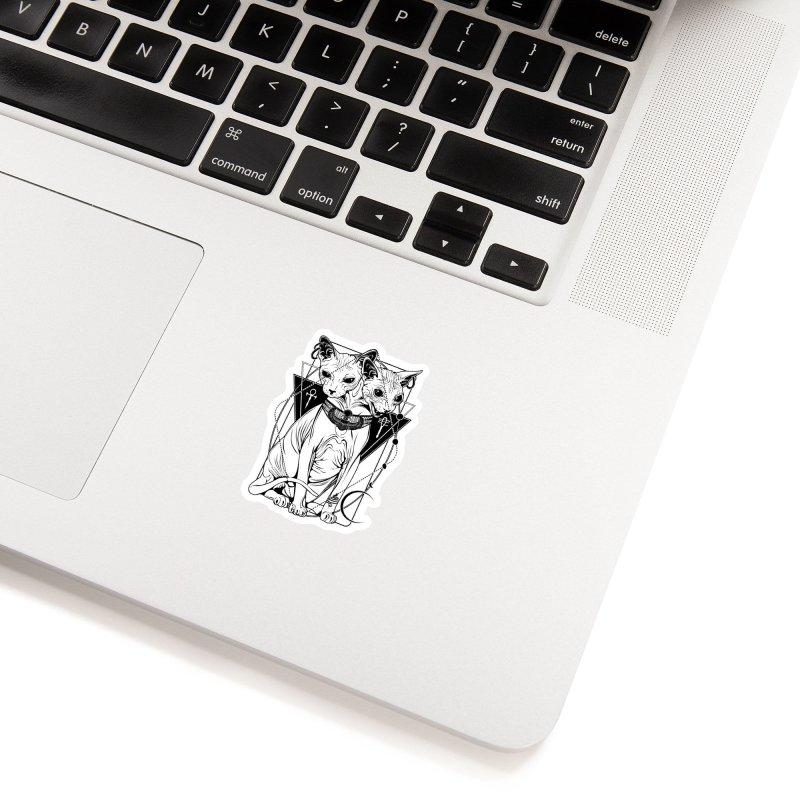 Bastet - the Cat Goddess Accessories Sticker by von Kowen's Shop
