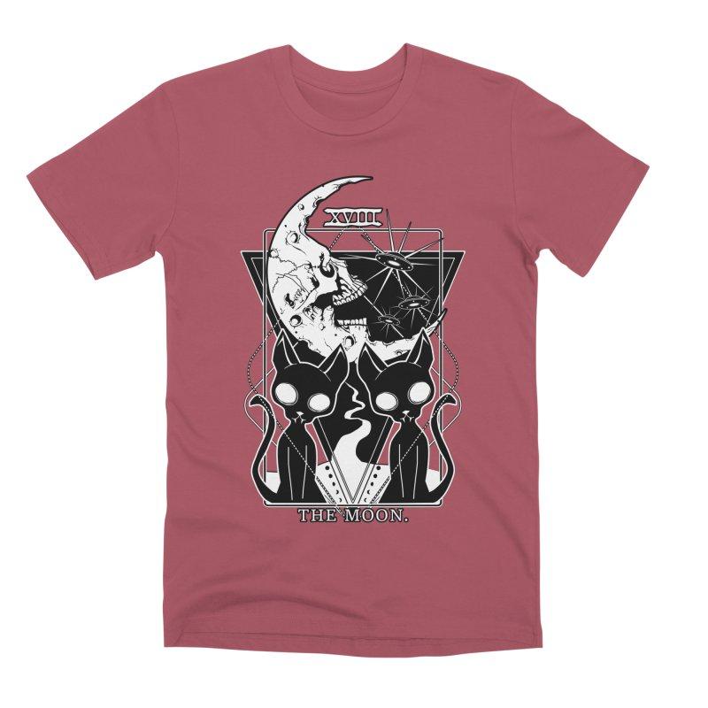 The Moon Tarot Card Men's Premium T-Shirt by von Kowen's Shop