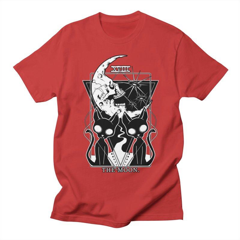 The Moon Tarot Card Men's Regular T-Shirt by von Kowen's Shop