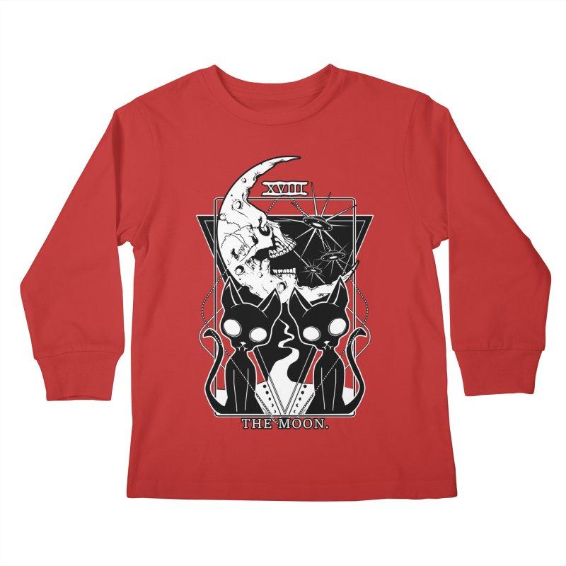 The Moon Tarot Card Kids Longsleeve T-Shirt by von Kowen's Shop