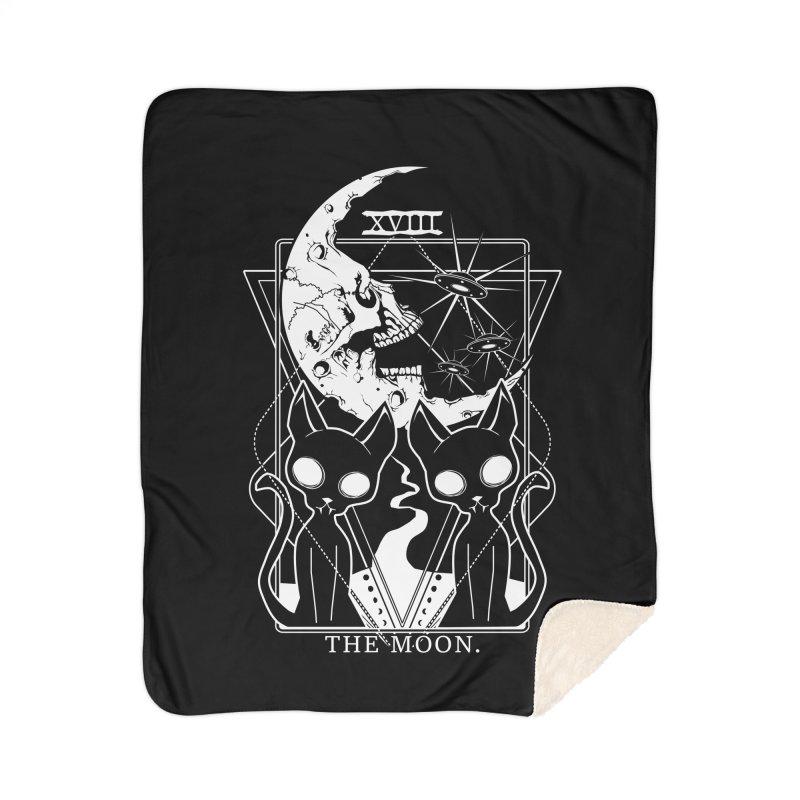 The Moon Tarot Card Home Sherpa Blanket Blanket by von Kowen's Shop