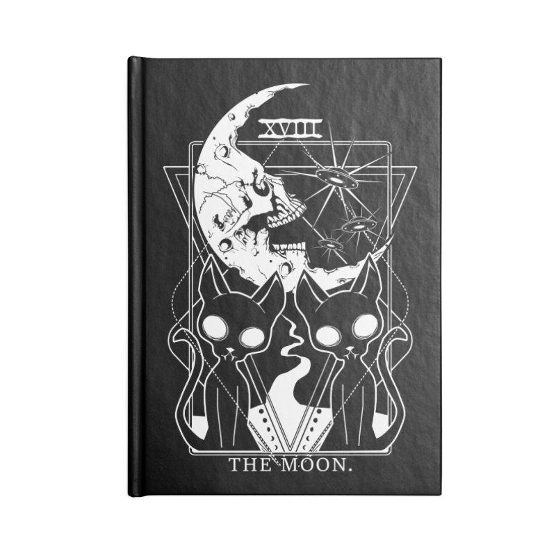 The Moon Tarot Card Accessories Blank Journal Notebook by von Kowen's Shop