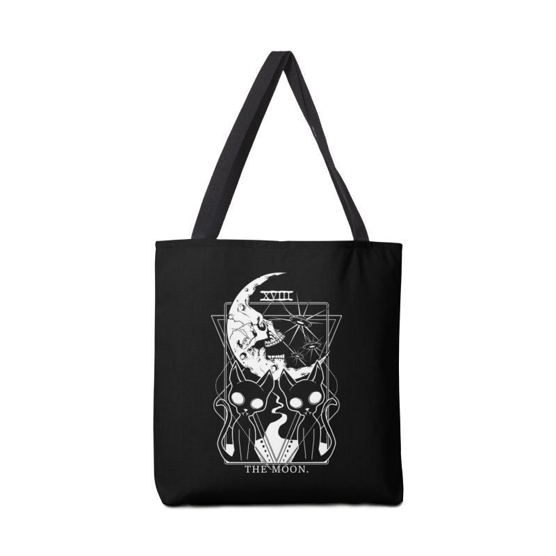 The Moon Tarot Card Accessories Tote Bag Bag by von Kowen's Shop