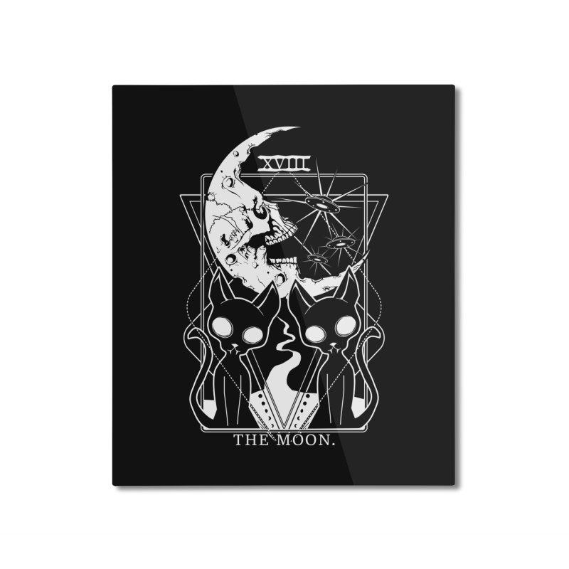 The Moon Tarot Card Home Mounted Aluminum Print by von Kowen's Shop