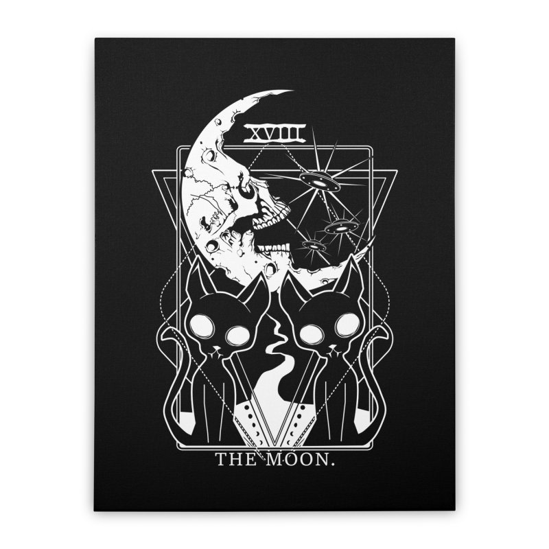 The Moon Tarot Card Home Stretched Canvas by von Kowen's Shop