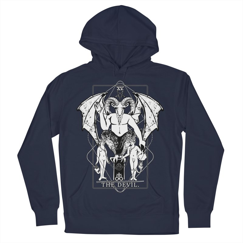 The Devil Men's French Terry Pullover Hoody by von Kowen's Shop