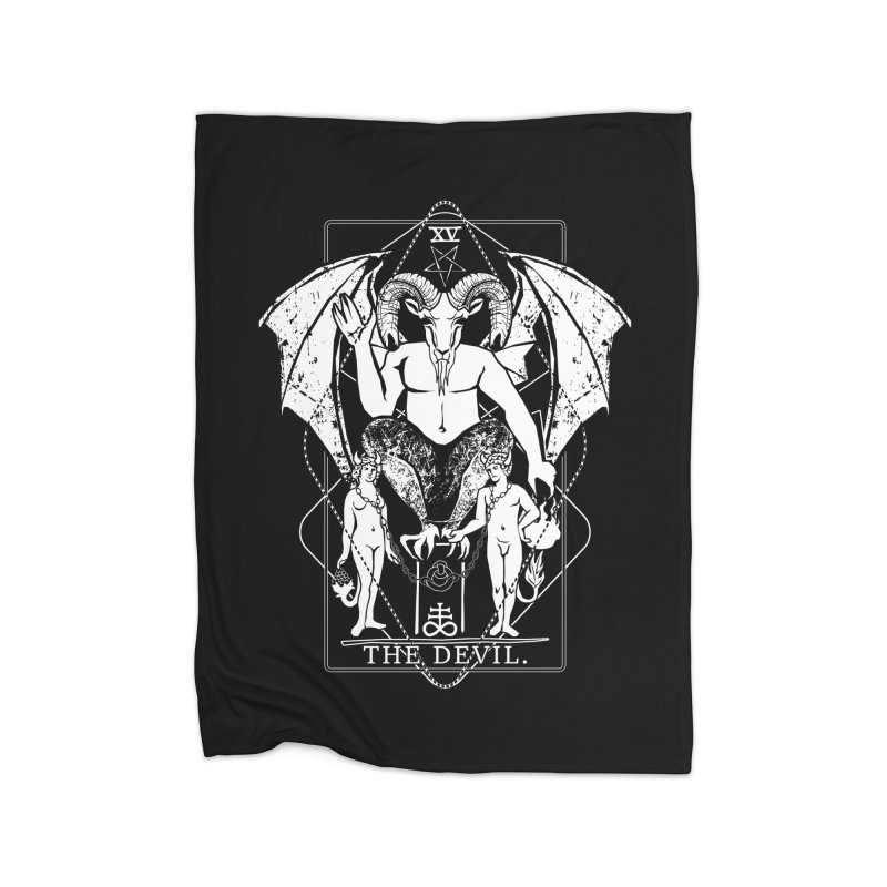 The Devil Home Fleece Blanket Blanket by von Kowen's Shop