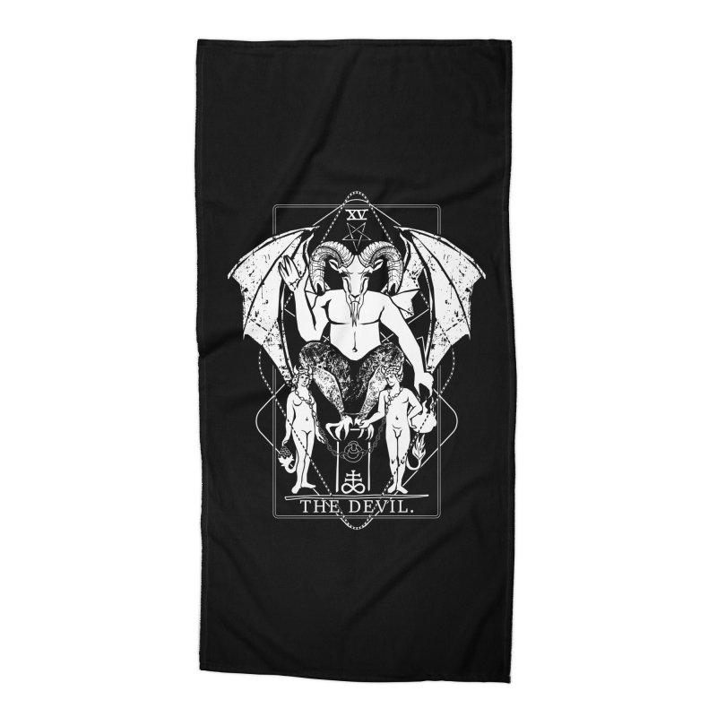 The Devil Accessories Beach Towel by von Kowen's Shop