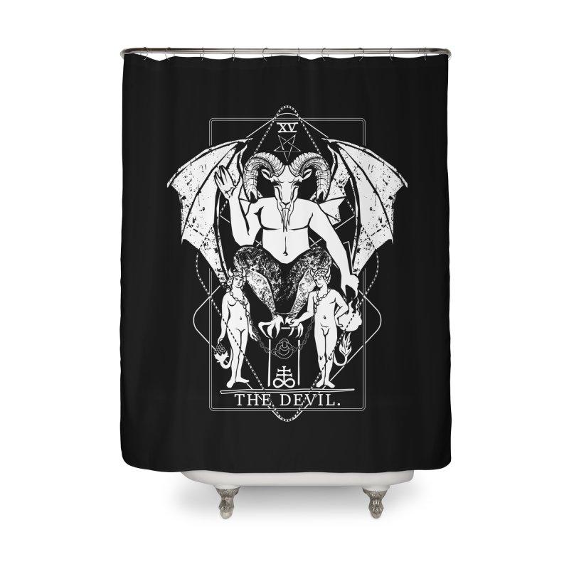 The Devil Home Shower Curtain by von Kowen's Shop