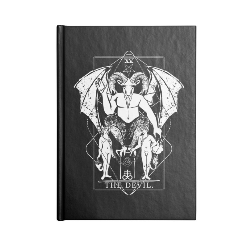 The Devil Accessories Blank Journal Notebook by von Kowen's Shop