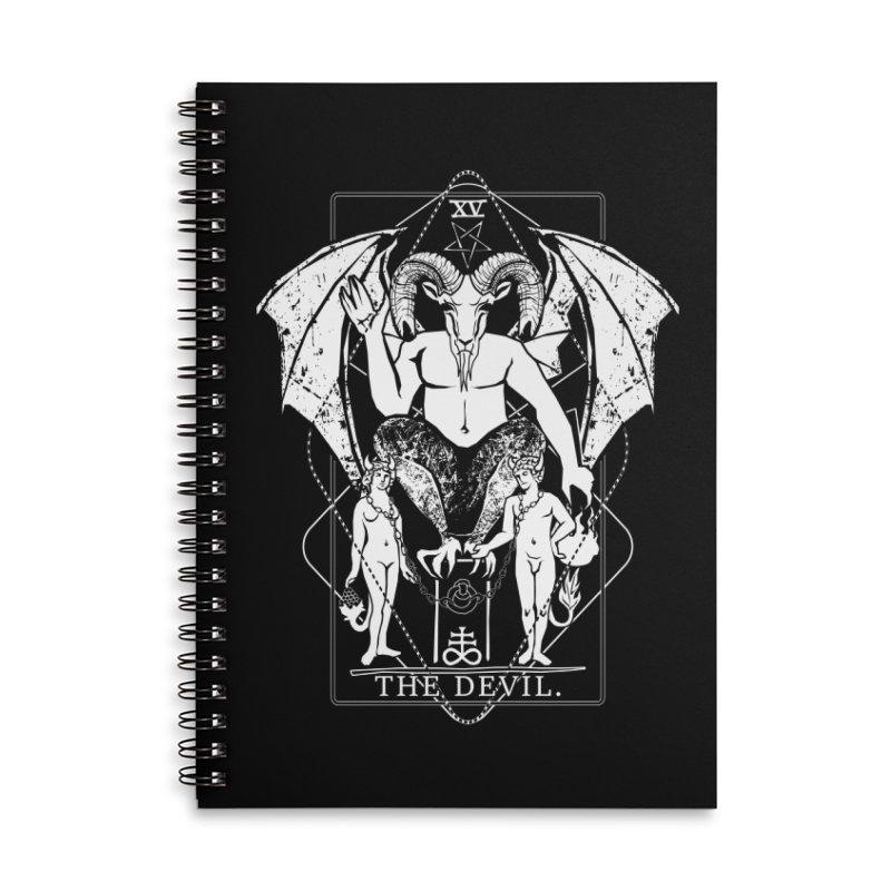 The Devil Accessories Lined Spiral Notebook by von Kowen's Shop