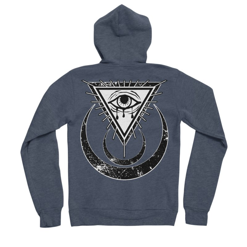All Seeing Eye Men's Sponge Fleece Zip-Up Hoody by von Kowen's Shop