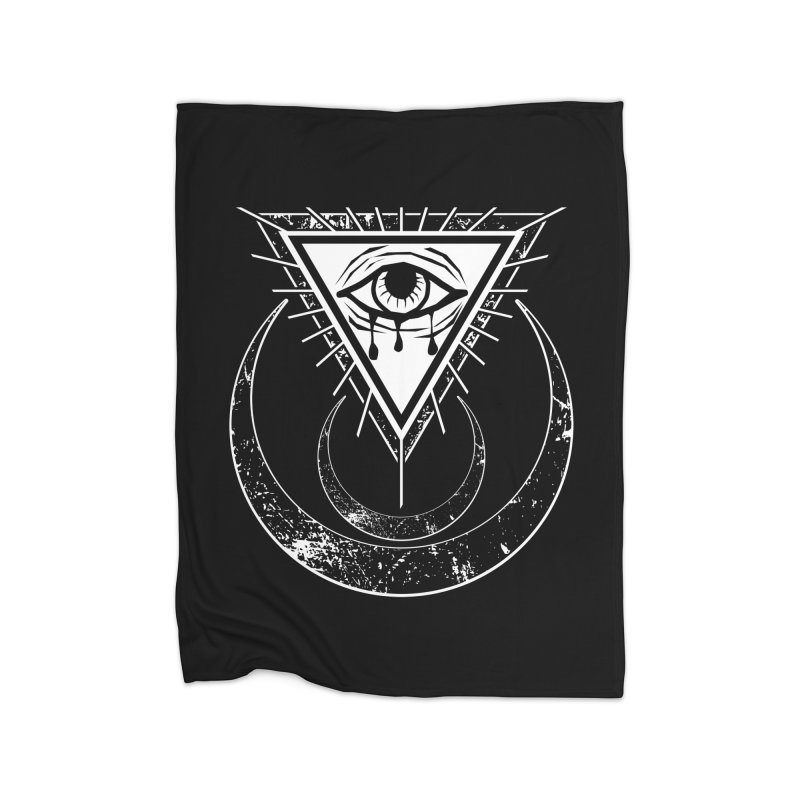 All Seeing Eye Home Fleece Blanket Blanket by von Kowen's Shop