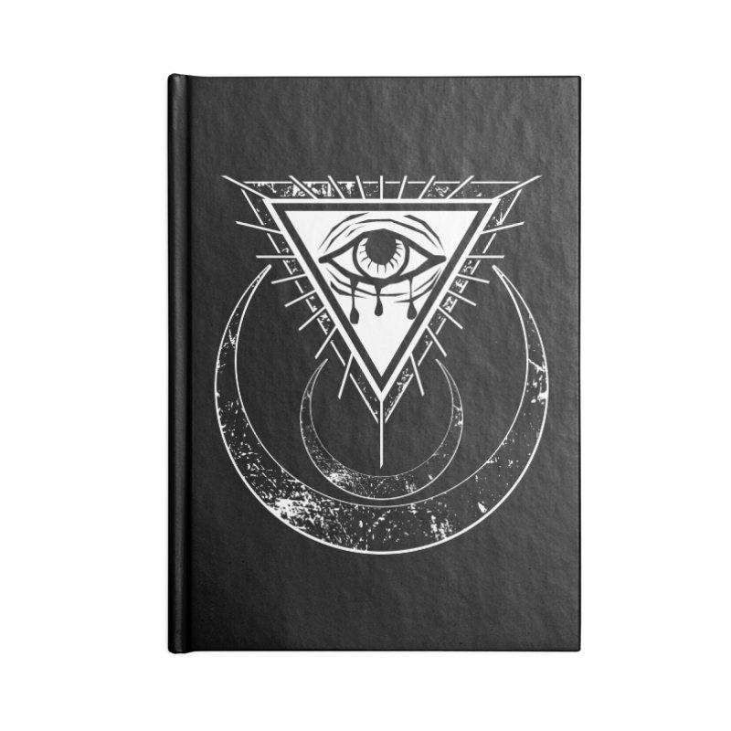 All Seeing Eye Accessories Blank Journal Notebook by von Kowen's Shop