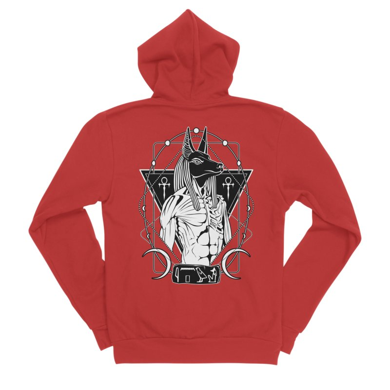 ANUBIS - God of afterlife and mummification Men's Zip-Up Hoody by von Kowen's Shop