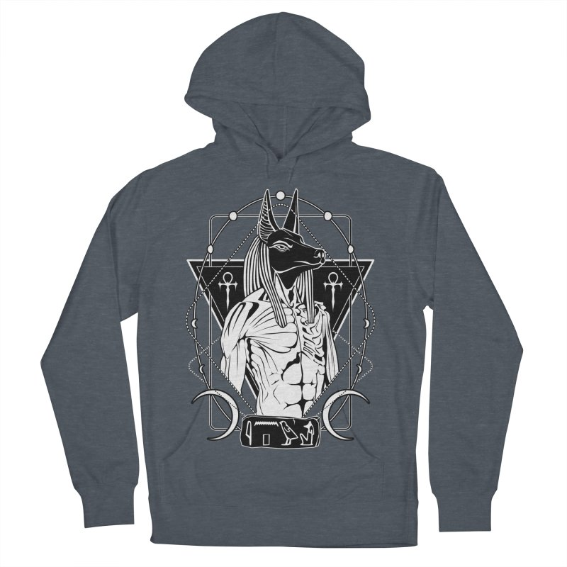ANUBIS - God of afterlife and mummification Men's French Terry Pullover Hoody by von Kowen's Shop