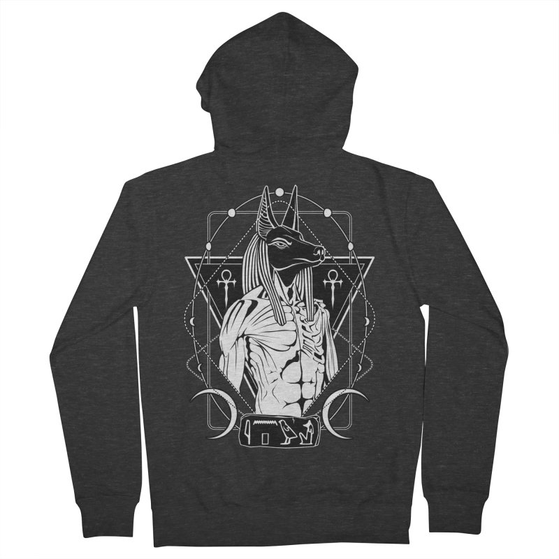 ANUBIS - God of afterlife and mummification Men's French Terry Zip-Up Hoody by von Kowen's Shop