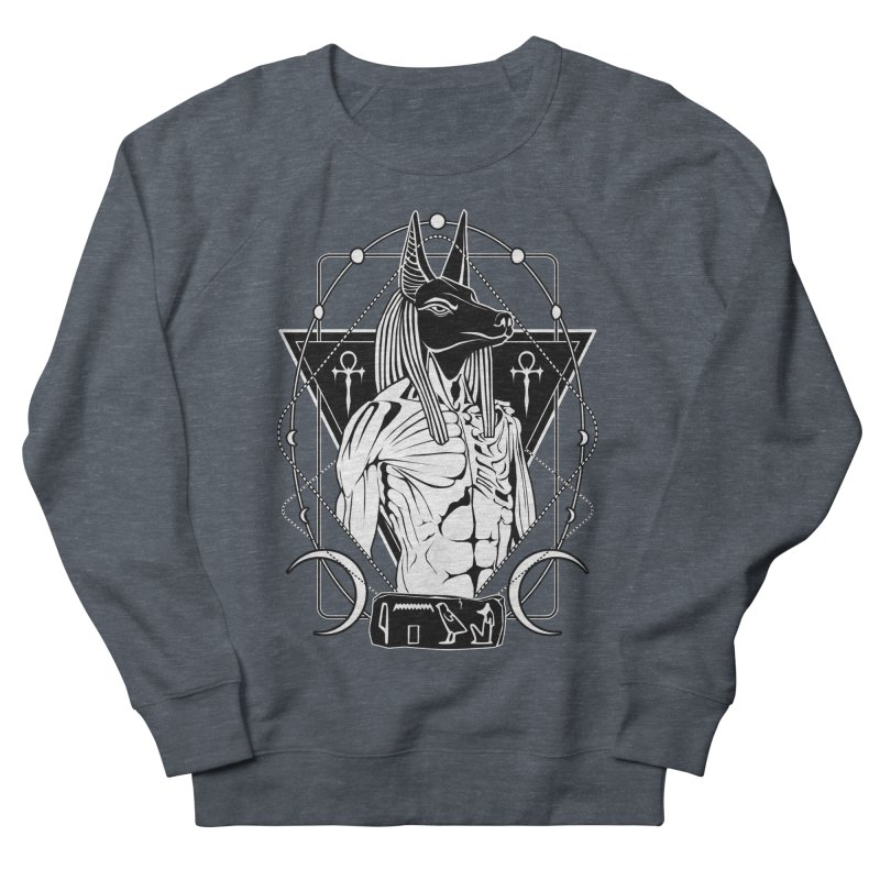 ANUBIS - God of afterlife and mummification Men's French Terry Sweatshirt by von Kowen's Shop