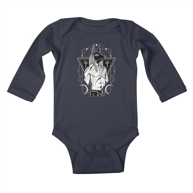 ANUBIS - God of afterlife and mummification Kids Baby Longsleeve Bodysuit by von Kowen's Shop